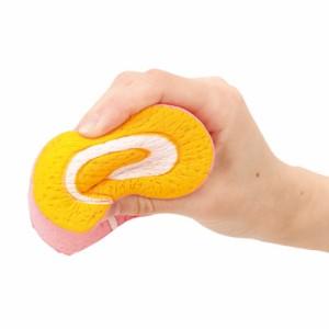 ピンク/むにむにロールケーキのオブジェ