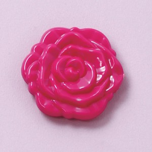 濃桃/バラの形のコンパクトミラー