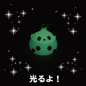 夜光水色/パンダ帽子ほっぺちゃんストラップ
