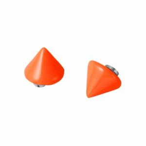 【56%OFF】オレンジ/ネオンカラー円すいスタッズ風マグネットピアス(両耳用)