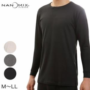 ナノミックス あったか衣 メンズ 長袖Tシャツ MLL (在庫限り)