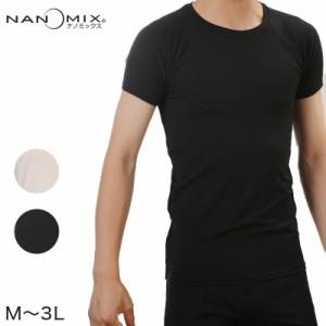 ナノミックス パワーネット メンズ 半袖Tシャツ M3L (在庫限り)