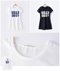 ガーベラレディース ファッション 文字入り 半袖 ワンピース mb12100-1