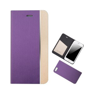 Chabel iPhone6 Metal Line Diary パープル