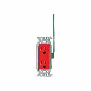 パナソニック フルカラー 埋込抜け止め接地ダブルコンセント 接地リード線付 赤 15A 125V WN1162R1