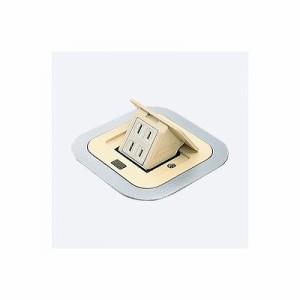 パナソニック F型アップコン 角型 電源用 安全扉付コンセント 2コ口 アイボリー 15A 125V DU1300WT