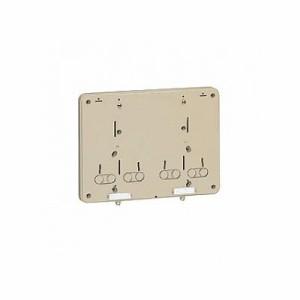 未来工業 【お買い得品 10個セット】積算電力計取付板 2個用 カードホルダー付き グレー B-0WG_10set