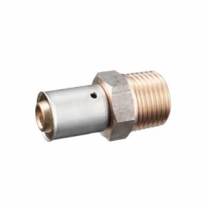 三栄水栓製作所 オスアダプター カシメタイプ ネジ径R3/4×パイプ径20A T600-4-20X20A