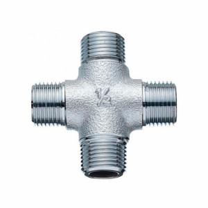 三栄水栓製作所 クロス接手(クロム) 呼び13(G1/2×G1/2×G1/2×R1/2) 青銅製 T790G-4-13