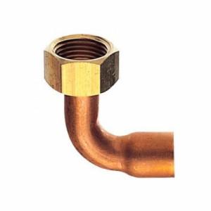 三栄水栓製作所 ナット付銅管エルボ 呼び20(G3/4)×22.22 パッキン付(ノンアスベスト) T56-2-20X22.22