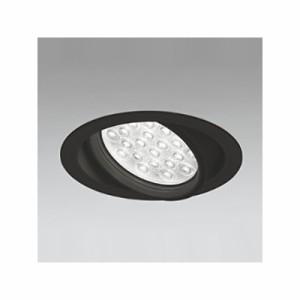 オーデリック LEDユニバーサルダウンライト M形 埋込穴φ150 HID100Wクラス LED24灯 配光角27° 連続調光 本体色:ブラック 白色タイプ 40