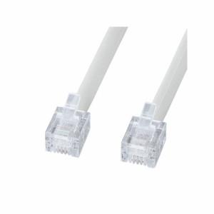 サンワサプライ エコロジー電話ケーブル ノーマル ホワイト 3m TEL-EN-3N2