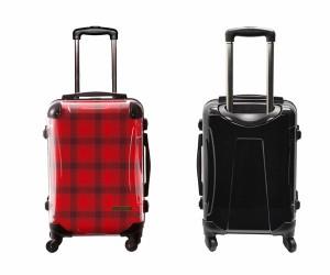 スーツケース キャラート アートスーツケース ベーシック カラーチェックモダン(レッド3) 機内持込 CRA01H-023R