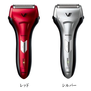 電動シェーバー ソリッドシリーズ S-DRIVE 泉精器 IZUMI(イズミ) IZF-V26 シルバー レッド 3枚刃 電気シェーバー 髭剃り