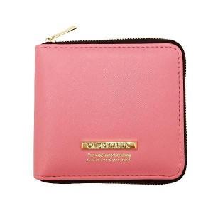 送料無料 2500円 Capricieux カプリッシュ 二つ折り財布 ピンク CAP24-1