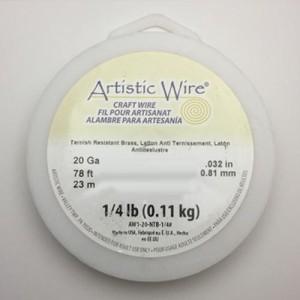 送料無料 Artistic Wire(アーティスティックワイヤー) ロングスプールス(業務用) ノンターニッシュブラス 0.8mm×約24m 20