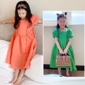 子供服 ワンピース 夏 半袖 キッズワンピース チェックワンピース 子どもドレス 子供ドレス ジュニア 可愛い 通学着 お出かけ