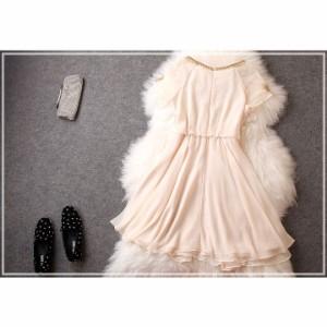 パーティードレス 結婚式 二次会 ワンピース ドレス 結婚式 お呼ばれ 結婚式ドレス お呼ばれドレス 袖あり 半袖 20代 30代 40代