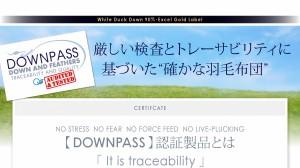 送料無料 DOWNPASS認証 フランス産ホワイトダックダウンエクセルゴールドラベル羽毛掛布団 掛け布団 サイレントブラック 白 黒