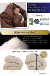 日本製 送料無料 日本製防カビ消臭 フランス産ホワイトダックダウンエクセルゴールドラベル羽毛掛布団 掛け布団 アイボリー 白 乳白色
