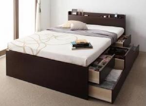 セミシングルベッド 棚付 マットレス付き ナチュラル