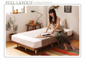 セミシングルベッド フレーム幅100 マットレス付き ウォルナットブラウン 茶