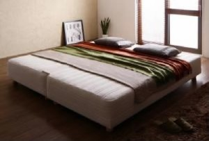 送料無料 単品 日本製ポケットコイルマットレスベッド 用 クイーン クイーンサイズベッド 家族