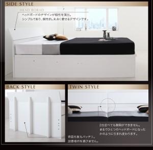 送料無料 モダンデザイン_ガス圧式大容量跳ね上げベッド ボンネルコイルマットレスハード付き ホワイト シングルベッド 白