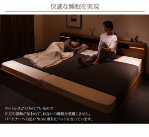 シングルベッド 棚付 マットレス付き モダンブラウン 茶