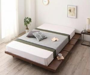 シングルベッド フレーム幅120 マットレス付き ウォルナットブラウン 茶