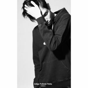 【141910】プルオーバーパーカ メンズ/パーカー プルオーバー プルパーカー インディゴ カットデニム 長袖 無地