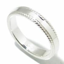 シンプル・ロープライン(細身)シルバーリング 7~21号/シルバー925 シルバーリング メンズ シルバー 指輪