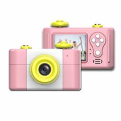 [新品]子供用カメラ デジタルカメラ トイカメラ 一眼レフ 500万画素 録画機能 日本語適用 & 日本語説明書付き 子供プレゼント (桜)