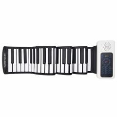 [新品]88鍵 ロールピアノ 電子ピアノ 電子キーボード 128種類音色 128種リズム 14曲模範曲 マイク内蔵 USB充電 ペダル付き イヤホン/ス