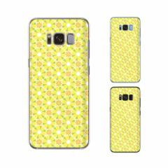 Galaxy S8 (docomo SC-02J / au SCV36) 兼用 スマホ ケース ハード カバー 花柄27 黄色