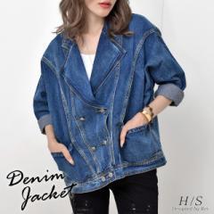 デニムジャケット 大きいサイズ デニムシャツ Gジャン ジージャン レディース シャツ デニム HS アウター オーバーサイズ