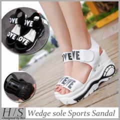 即納  サンダル  ウェッジソールサンダル  スポーツサンダル  歩きやすい  厚底  軽量  セパレートサンダル  レディース  シューズ