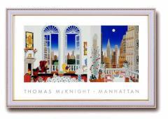トーマス・マックナイト(Thomas McKnight) ワイドポスター額 マンハッタン 18461