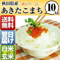 秋田県 白米 玄米 1等米 100% あきたこまち 10kg...