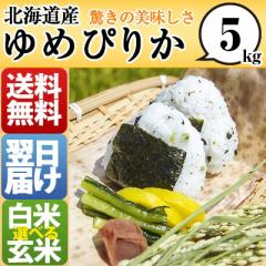 北海道 白米 玄米  1等米 100% ゆめぴりか 5kg ...