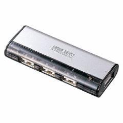 USB-HUB225GSV サンワサプライ USB2.0ハブ 4ポート・シルバー