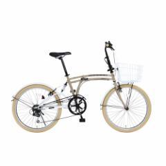 「メーカー直送」M6-24-BG ドッペルギャンガー 折りたたみ自転車 24インチ リネン