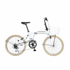 「メーカー直送」M6-24-WH ドッペルギャンガー 折りたたみ自転車 24インチ ホワイト