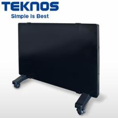 【在庫僅少】テクノス ガラスパネルヒーター 1000W ブラック GP-001-K