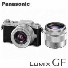 パナソニック ミラーレス一眼レフカメラ LUMIX DMC-GF7W-S ダブルズームレンズキット [シルバー]