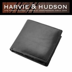 Harvie and Hudson 二つ折り財布 ブラック HA-2002-BK