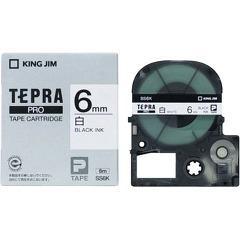 テプラ・プロ テープカートリッジ 白ラベル 6mm 黒文字 SS6K(1コ入)(発送可能時期:3-7日(通常))[ラベルライター]