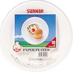 サンナップ ホワイトプレート 18cm(10枚入)(発送可能時期:3-7日(通常))[使い捨て食器]
