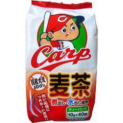 寿老園 カープ麦茶 国産大麦100%(10g*40袋入)(発送可能時期:1週間-10日(通常))[麦茶]