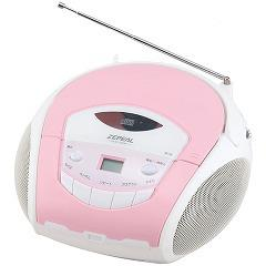ゼピール ポータブルCDラジオ ピンク(1台)(発送可能時期:1週間-10日(通常))[ラジオ]
